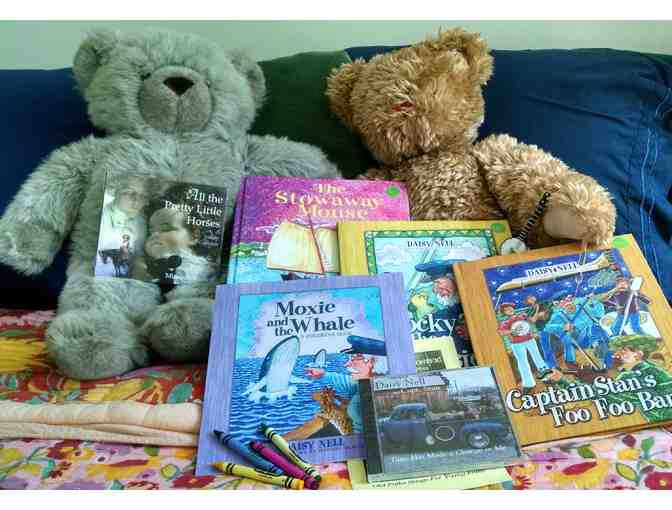 Basket of Children's Books and CD's