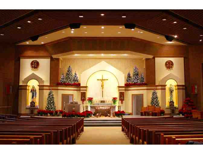 Front Row Pew on Christmas Eve OR Easter Sunday with Reserved Parking