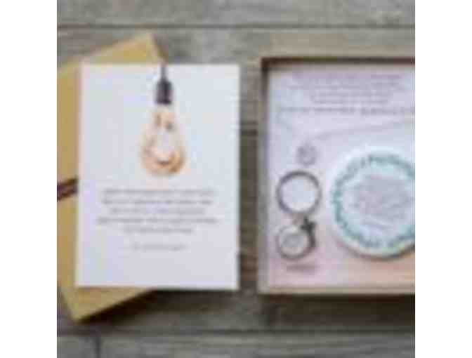 Pink Salt Riot 'Courage Box' and Lettered Lace Earrings