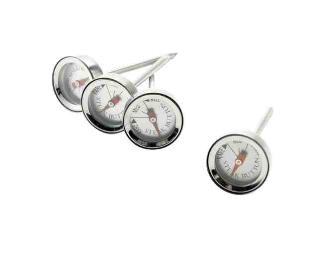 Set of 4 Steak Button Thermometers