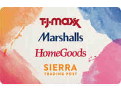 $50 Gift Card to T.J. Maxx, Marshalls, HomeGoods, Sierra Trading Post