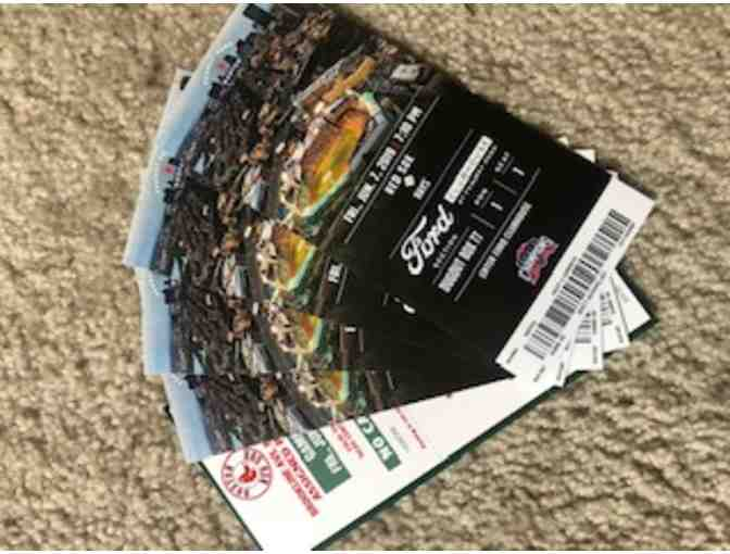 4 Front Row Tickets, Behind Visitors' Dugout, for Red Sox vs. Tampa Bay Rays, June 7