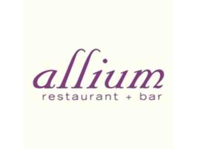 $100 Gift Certificate to Allium Restaurant & Bar