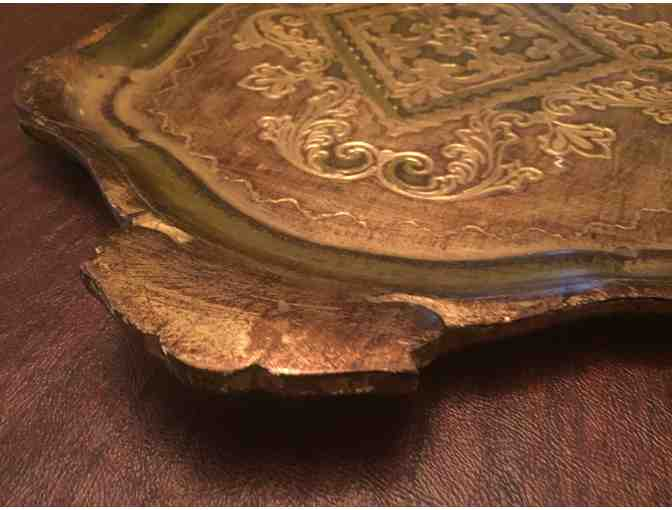 Italian Florentine Painted Wood Tray