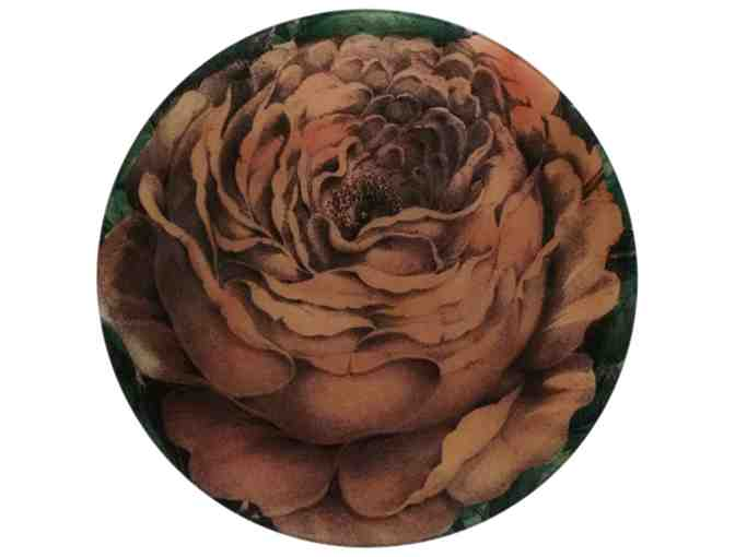 16' Rose with Leaves Round Plate by JOHN DERIAN