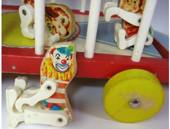 Vintage Fisher Price Circus Wagon Set