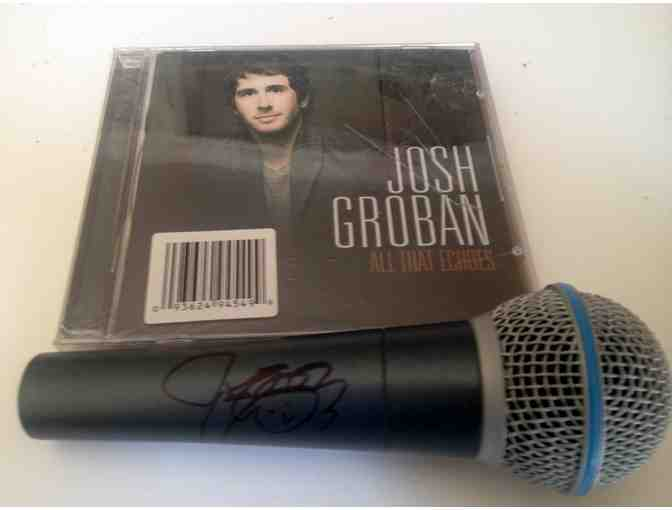 Microphone signed by Josh Groban and accompanying CD