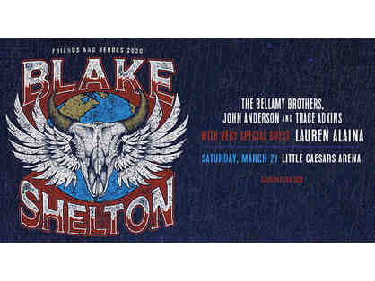 Blake Shelton in Concert at Little Caesars Arena-- 2 Tickets, March 21, 2020