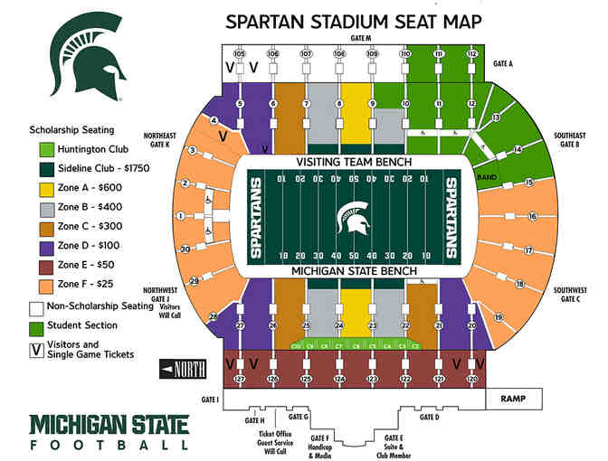 MSU VS. Rutgers Football - 4 Tickets and Parking -- Saturday, November 21, 2020 - Photo 2