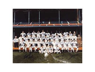 Autographed 1984 Word Champion Detroit Tigers Poster