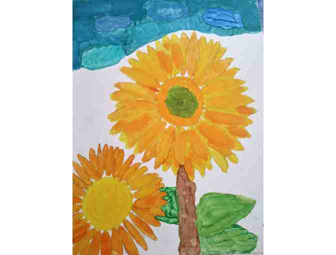 Sunflower Painting by Sarah D.