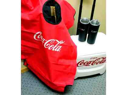 Coca-Cola Cooler and Cornhole Set