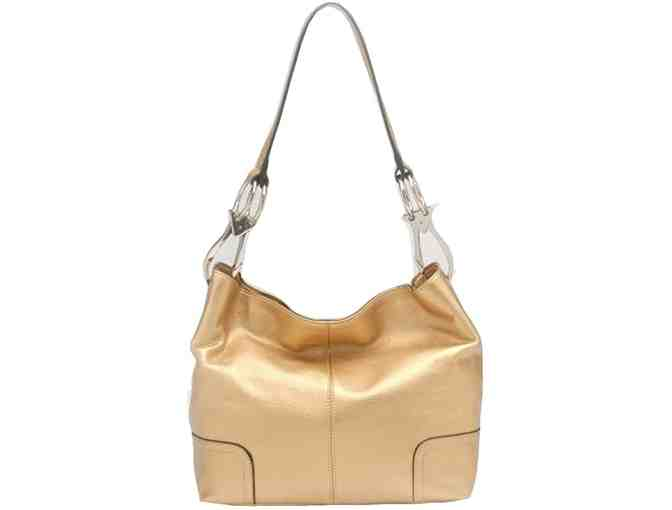 Designer Handbag - Gold Hobobag - Photo 1