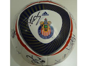 2010 Team Autographed Chivas USA Ball