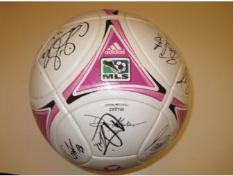 Vancouver Whitecaps FC Breast Cancer Awareness game-used team autographed pink soccer ball - Photo 1