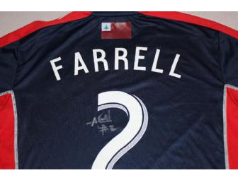 Andrew Farrell #2 navy jersey w/ leukemia awareness ribbon