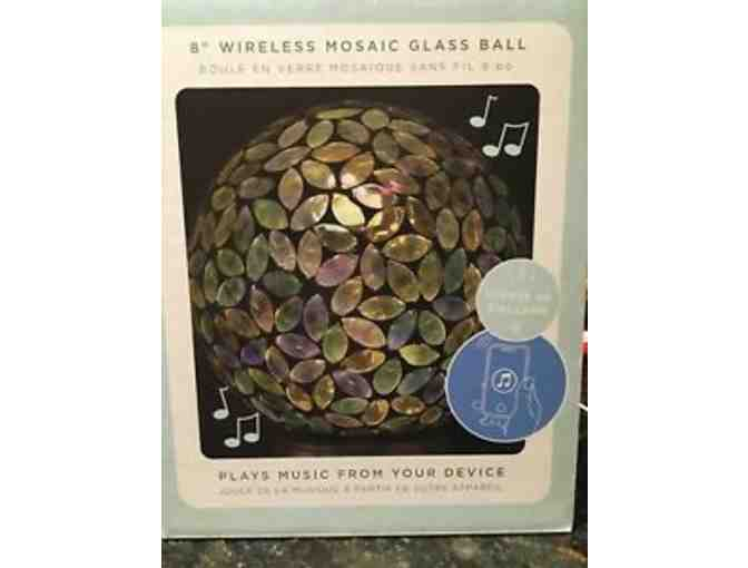 Ambience 8' Wireless Mosaic Glass Ball Speaker-courtesy MMH Auxiliary