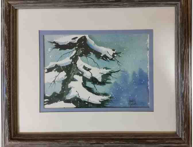 Small Vern Mauk Original Watercolor - courtesy Friends of the MMH Foundation