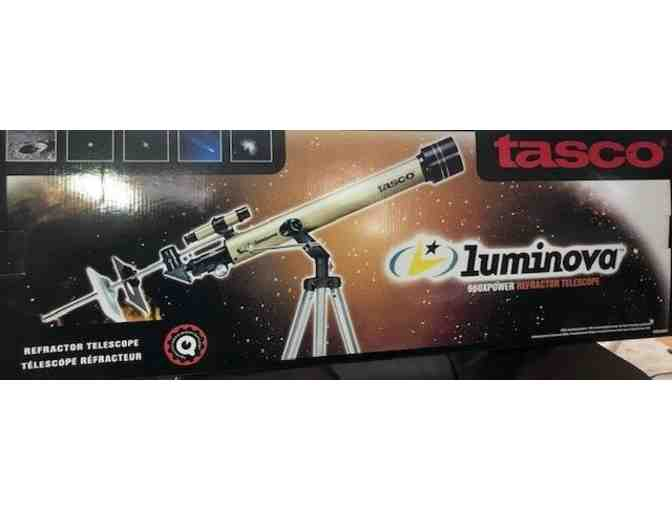 Tasco Luminova 660xpower Refractor Telescope - courtesy MMH Human Resources