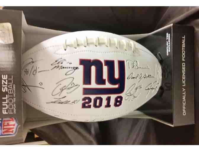 New York Giants Laser Engraved 2018 Football
