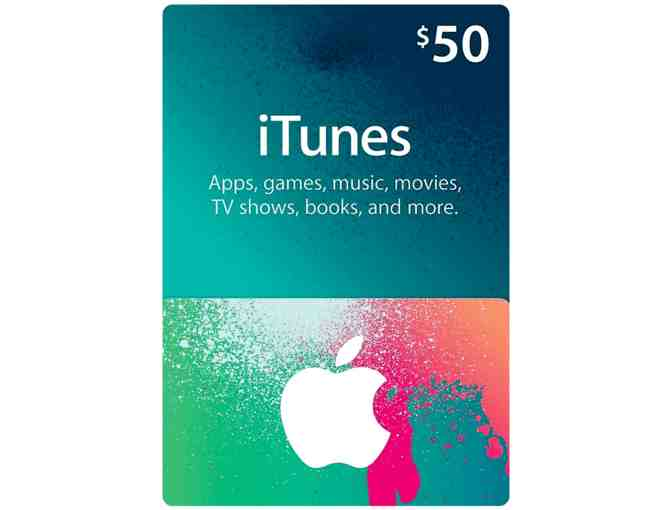 $50.00 iTunes Card - courtesy Whalen, Davey & Looney