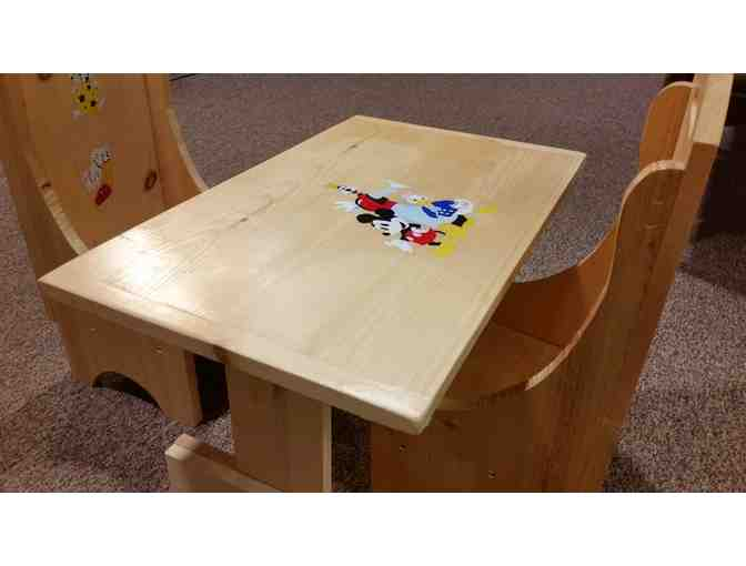 Handmade Children's Table with 2 Chairs - courtesy of Al McGrath