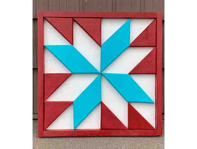 Handmade Barn Quilt - courtesy of Chad St. Hilaire