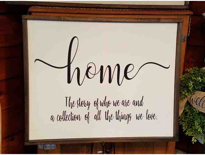 'Home' Framed Canvas - courtesy 266 Designs