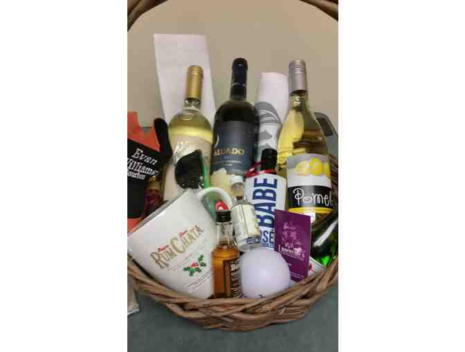 Wine & Spirits Gift Basket - courtesy of Orvis Street Wine & Liquors