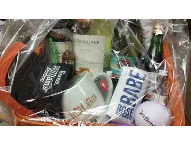 Wine & Spirits Gift Basket - courtesy Orvis Street Discount Wine & Liquors