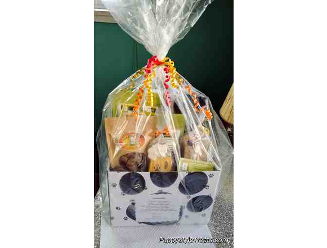 Gourmet Dog Treat Basket - courtesy Puppy Style Treats & More
