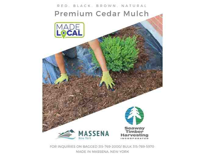 25 Bags of Decorative Landscaping Mulch - courtesy Seaway Timber Harvesting