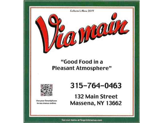 $20.00 Gift Certificate - courtesy of The Via Main