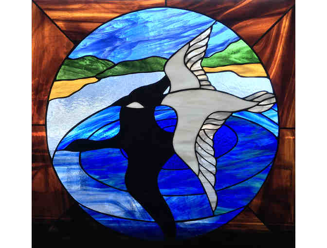 'The Migration' Framed Stain Glass Panel - courtesy Early Dawn Glassworks