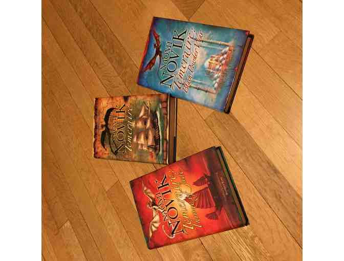 Signed UK Hardcovers of First 3 Temeraire novels by Naomi Novik