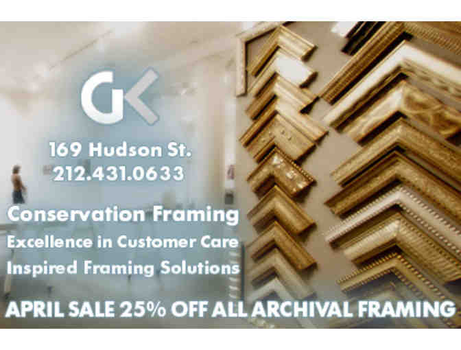 Custom Archival Framing Services & One Consultation from GK Framing
