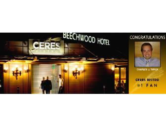 Brunch for two at Ceres Bistro