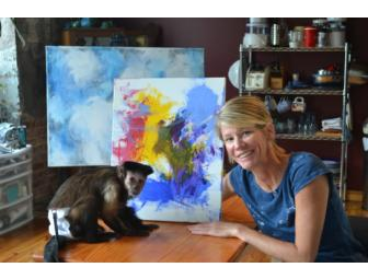 Colors of the Heart - a painting by Monkey Helper, Tracey with help from Stephany