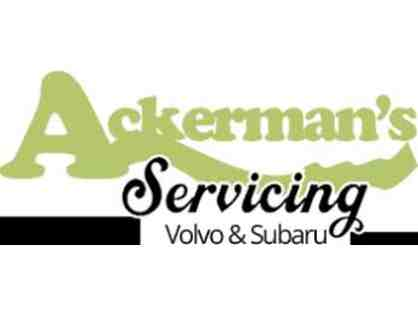 Ackerman's Servicing Volvo and Subaru - $100 credit