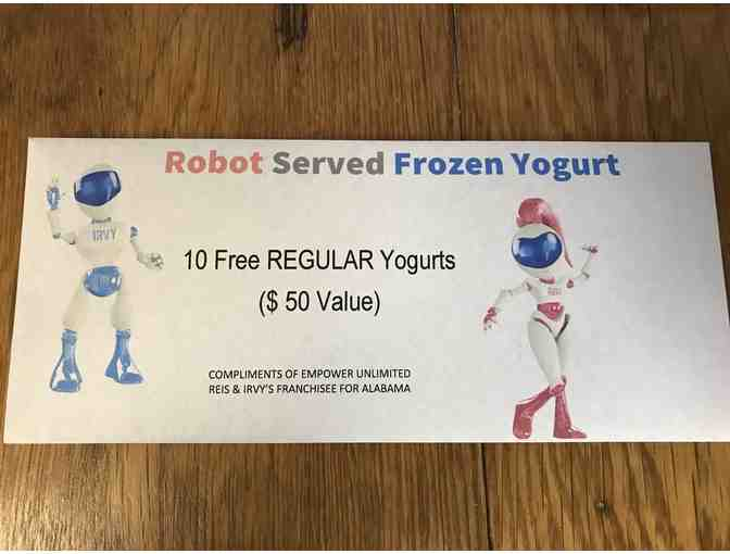 $50 gift certificate for 10 Frozen Yogurts - From the Reis & Irvy's machine in Museum - Photo 1