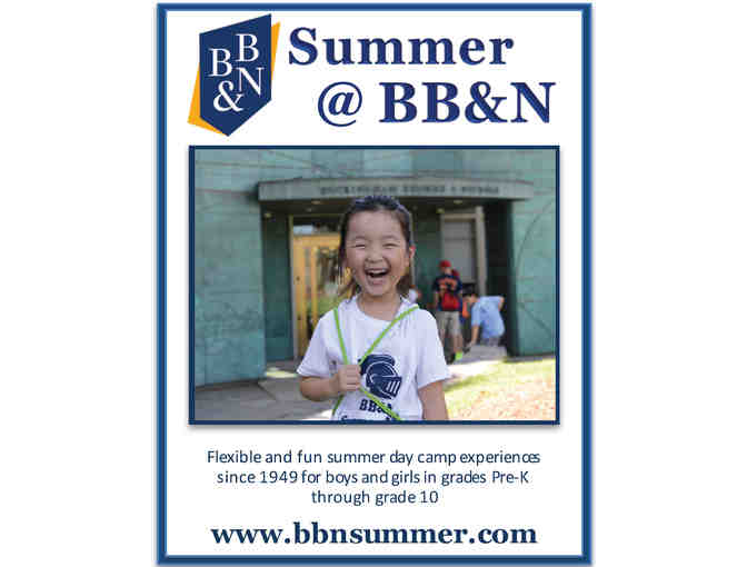 BB&N Summer Camp - One Week!