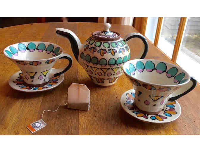 Tea for Two - Whimsical Ceramic Tea Set by Phinney