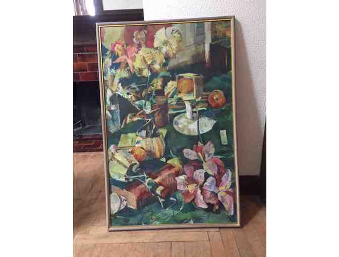 Diana Korzenik, Original Oil Painting on Canvas: GREENWICH VILLAGE STILL LIFE