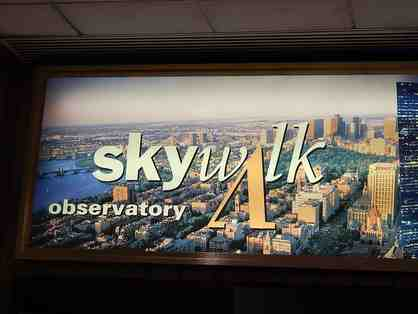 4 VIP Tickets to Skywalk Observatory at the Prudential