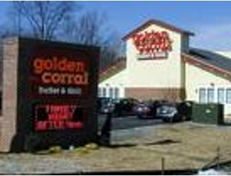 Golden Corral certificate for 2 buffets and 2 drinks