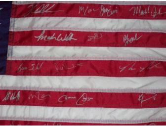 'Do You Believe in Miracles?' 1980 United States Flag Signed by the U.S. Ice Hockey Team