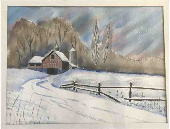 Untitled, original watercolor by Bernard Shriner