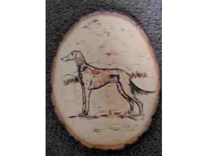 Dog Wood Burn Art