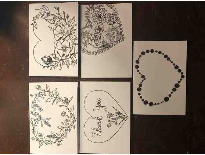 Homemade Notecards 'Flowers' by Jaclyn Paolantonio
