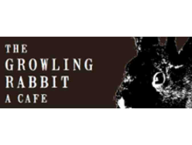 $20 in gift certificates to The Growling Rabbit
